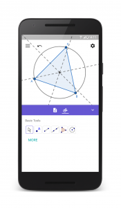 GeoGebra Geometry on Phone